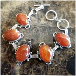 Jewelry - Colorful Natural Carnelian Bracelet 7.25""